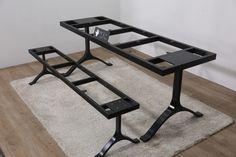 위시본 테이블, 벤치   01092717876 문의 전화부탁드립니다.  table,bench, 위시본 type ,steel frame , woodslab, walnut wood slab casting leg for wood slab