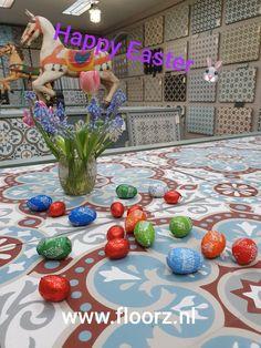 Portugese tegels, cementtegels, Portugese cementtegels Happy Easter, Happy Easter Day