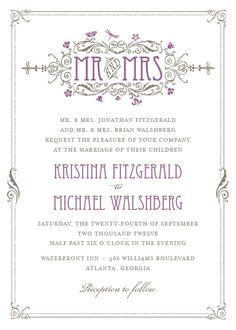 Art Deco Wedding Invite by Elli.com