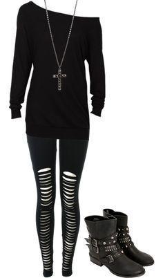 nice goth clothes for school - Google Search... by http://www.polyvorebydana.us/gothic-fashion/goth-clothes-for-school-google-search/