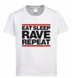Vectorbomb, Eat Sleep Rave Repeat, Mens T-Shirt, In Various Colours