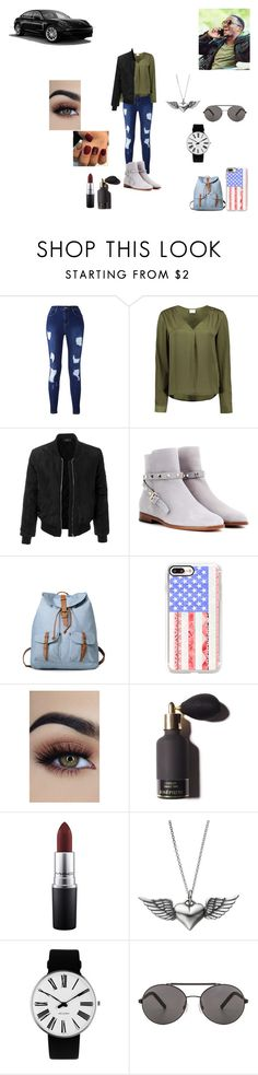 """sam gf"" by melissa-van-delft ❤ liked on Polyvore featuring VILA, LE3NO, Valentino, Casetify, Porsche, MAC Cosmetics, Journee Collection, Rosendahl and Seafolly"