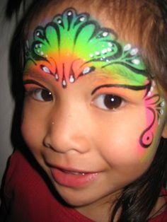 rose face painting | Rainbow Princess face paint | Yelp