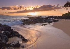 Sunset, Secret Beach- Makena Cove Maui Hawaii!