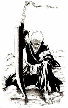 Ichigo Power - The Beginning bleach Bleach Anime, Bleach Ichigo Bankai, Ichigo Manga, Bleach Fanart, Anime Naruto, Naruto Cute, Ichigo Kurosaki Wallpaper, Manga Art, Anime Manga
