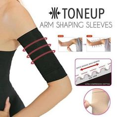 GET RID OF BAT WINGS AND LOOSE SKIN ON YOUR ARMS Tone and reshape your arms with Compression Arm Shaper! These ruched textured pattern targets loose skin on arms flawed by cellulite whiling accentuating your curves by toning & shaping your biceps. Tone It Up, Tone Up Arms, Cellulite, Massage For Women, Compression Arm Sleeves, Flabby Arms, Nylons, Circulation Sanguine, Sagging Skin