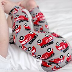 Grey Fire trucks Child & Baby Leggings