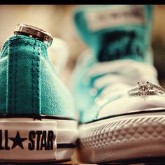 His and her shoes and rings