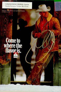 hot cowboys calendar | Ad Gallery - Campaign for Tobacco Free Kids - Campaign for Tobacco ... Vintage Advertising Posters, Vintage Advertisements, Vintage Ads, Marlboro Cowboy, Marlboro Man, Native American Makeup, Cowboy Pictures, Hot Cowboys, Cowboy Outfits