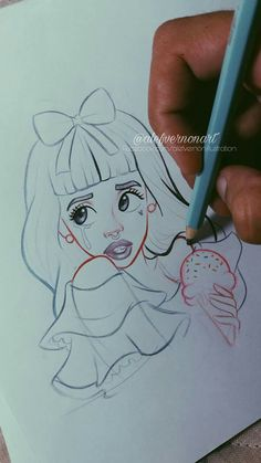 I'm cry baby Melanie Martinez Music, Melanie Martinez Drawings, Beautiful Drawings, Cute Drawings, Fanart, Cool Sketches, Cry Baby, Drawing Reference, Cute Art