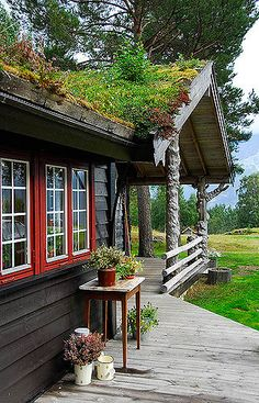 A beautiful mountain hut near Sogndal, Norway. I want to live here so much!