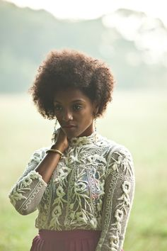 Marian Mereba's stylish curly 'do