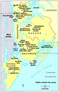 new york map with cities | Map of New York City Surroundings | PlanetWare