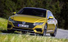 Download wallpapers Volkswagen Arteon R-Line, 4k, 2018 cars, VW Arteon, german cars, Arteon, VW, Volkswagen