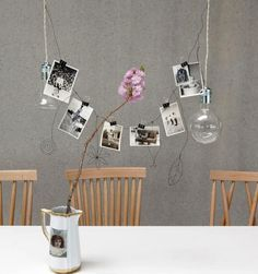 Hang Fine Art Prints with Binder Clips for a cheap and easy to create a chic photo display