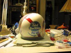 pabst custom motorcycle helmet