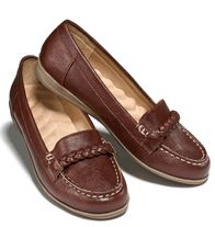 """NEW  Cushion Walk® Buckle Wedge Loafer """"Ideal for every day, this easy slip-on has a Cushion Walk® footbed for comfort. Man-made materials. Half sizes, order one size up"""""""
