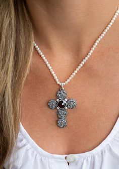 Diamond, Jewelry, String Of Pearls, Dirndl, Rhinestones, Neck Chain, Handmade, Silver, Jewlery