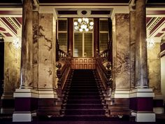 The stunning staircase and entrance hall at Yorkshire wedding venues Rossington Hall Wedding Venues Yorkshire, Luxury Wedding Venues, Affordable Wedding Venues, Wedding Events, Wedding Ideas, Weddings, Wedding Planning Checklist, Entrance Hall, Victorian Homes