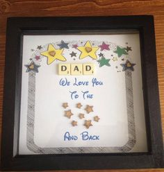 Father's Day frame by Hannahsbaskets on Etsy 3d Frames, Shadow Box Frames, Fathers Day Frames, Fathers Day Gifts, Frame Crafts, Diy Crafts, Diy Nursery Decor, Personalized Gifts, Handmade Gifts