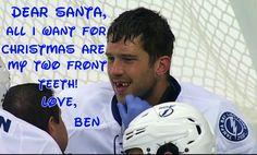 Ben Bishop lost his teeth Tampa Bay Lightning Go Bolts
