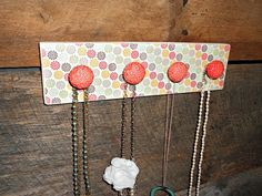 Necklace Holder with Boho Flower Print and by TheBarnOwlBoutique, $26.00