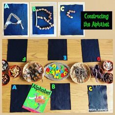 A Community Constructing the Alphabet to go with Book, Alphabet Under Construction by Denise Fleming (from Inquiry Spaces and Wondering Places)The In Sound from Way Out! The In Sound from Way Out! may refer to: Alphabet Activities, Language Activities, Literacy Activities, Literacy Centers, Preschool Alphabet, Kindergarten Literacy, Early Literacy, Reggio Inspired Classrooms, Reggio Classroom