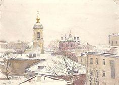 Старая Москва, художник С.Н. Андрияка