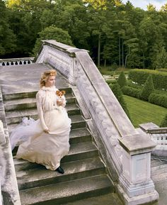 Natalia Vodinaova, playing writer Edith Wharton, whose summer residence, The Mount, in Lenox, Massachusetts features ... photographedby Annie Leibovitz and styled by Grace Coddington for Vogue.