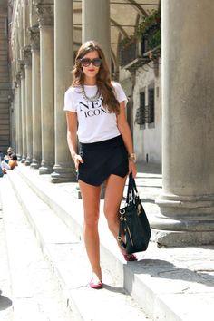 Una falda-short es la prenda básica para lograr miles de estilos.