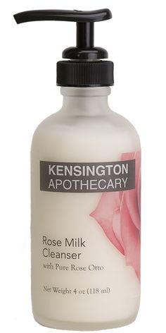 ROSE MILK CLEANSER WITH PURE ROSE OTTO We whip together organic rose hydrosol with vegetable glycerin & pure plant oils to create the perfect cleanser for skin of all ages and types.