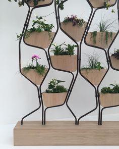 vertical garden (it) Interior Plants, Cafe Interior, Indoor Garden, Indoor Plants, Garden Design, House Design, Partition Design, Office Interiors, Plant Decor