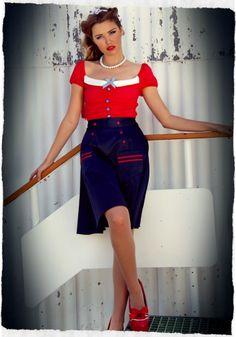 Aye Aye Kitten A-Line Skirt - Aye Aye Kitten - Collections