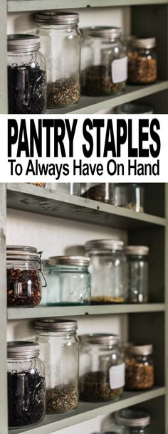 Pantry Staples to Always Have on Hand Pantry Staples are an essential part of feeding a family on a small budget, plus it's nice knowing that there is always something at home to cook. - Experience Of Pantrys Pantry Staples List, Pantry List, Pantry Essentials, Pantry Ideas, Cream Of Vegetable Soup, Olive Oil Pasta, Freezer Chicken, Italian Vegetables, Beef Gravy