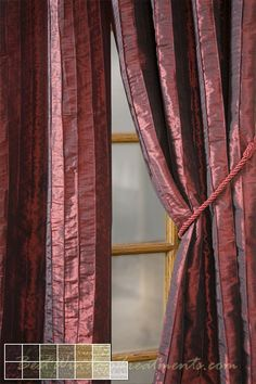 Fallbrook Vertical Pintuck Curtain Panel available in 13 colors