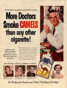 This is hilarious! Doctors promoting cigarettes