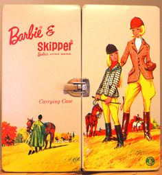 """Canadian issued Barbie & Skipper """"Equestrian"""" trunk. 1964."""