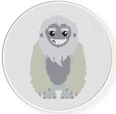 Yeti Cross Stitch Pattern