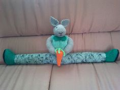 Bella's Hooks and Needles: Knitted Bunny Draft Stopper
