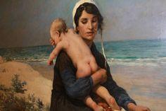 """""""La plage"""" (détail) 1889, par Virginie Demont-Breton - musée des beaux-arts d'Arras Children, Fictional Characters, 15th Century, Fine Arts Museum, Virginia, Fine Art Paintings, The Beach, Young Children, Boys"""