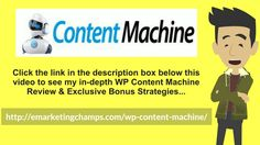 (WP Content Machine Review) See honest review of Content Machine, learn how it…
