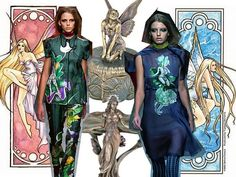 Prada SS08 - I won't deny, this collection is again another grower but I do like these hand painted fairies on the Vietnamese-inspired garments.  I've been waiting for Art Nouveau to worm it's way back into fashion.