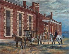 Judgement Day by John Bell Jr. Hanging Judge Parker's Courthouse in Fort Smith, Arkansas. The jail wagon was used to transport prisoners from the courthouse for trial. For those that were particularly dangerous, the Marshals would provide them with an escort on judgment day.