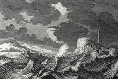 Christ's earthly ministry in the Phillip Medhurst Bible 155 of 550 Jesus sleeps during the tempest Matthew 8:23-26 Perelle on Flickr. A print from the Phillip Medhurst Collection at St. George's Court, Kidderminster.