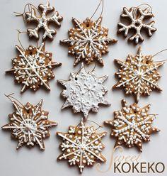 Galletas Navidad 2014 - Copos de Nieve Christmas Cookies 2014 - Snowflakes http://www.sweetkokeko.com