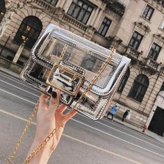 New Summer Hot Selling Clear Transparent Shoulder Bag High Quality Cro – ivroe