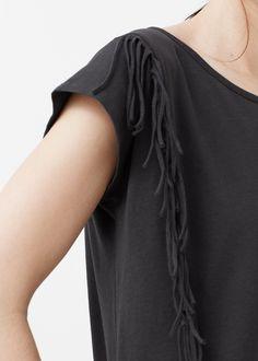 Fransen-shirt - T-shirts für Damen | MANGO Deutschland