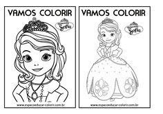 Livro de colorir com atividades e desenhos da Princesa Sofia para você imprimir…