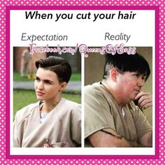 18 Ideas Haircut Quotes Funny New Haircut Quotes Funny, Funny Quotes, Oitnb Quotes, Funny Memes, Expectation Reality, Black Memes, Funny New, Funny Stuff, Funny Shit