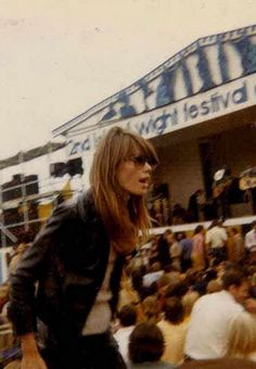Francoise Hardy at the 1969 Isle of Wight Festival